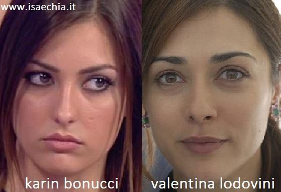 Somiglianza tra Karin Bonucci e Valentina Lodovini