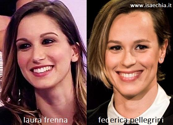 Somiglianza tra Laura Frenna e Federica Pellegrini