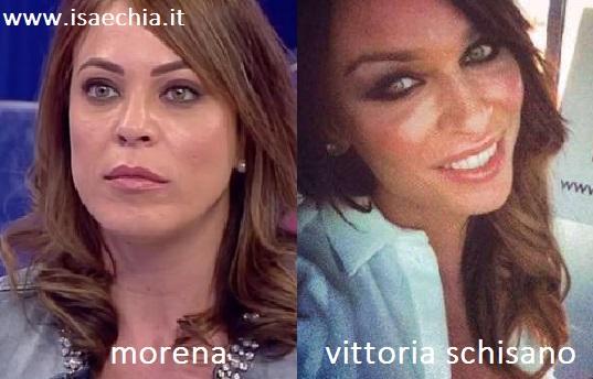 Somiglianza tra Morena e Vittoria Schisano