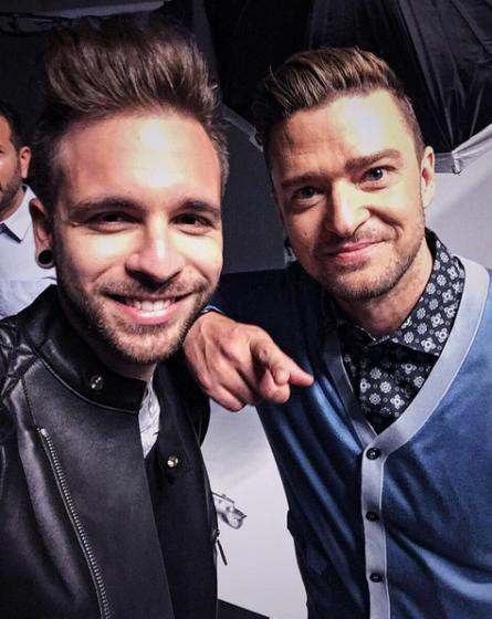Alessio Bernabei e Justin Timberlake