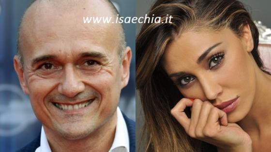 Alfonso Signorini e Belén Rodriguez