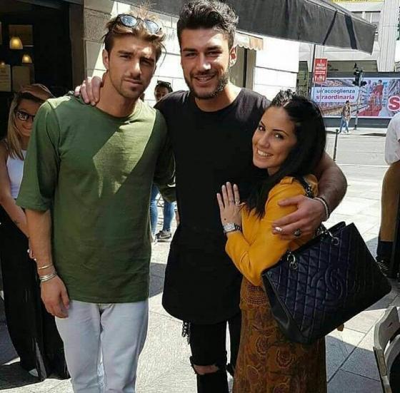 Andrea Damante, Giulia De Lellis e Lorenzo Riccardi