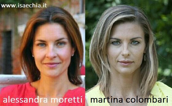 Somiglianza Alessandra Moretti e Martina Colombari