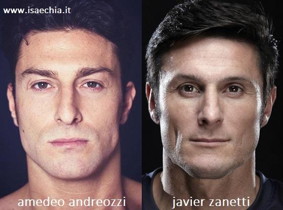 Somiglianza tra Amedeo Andreozzi e Javier Zanetti