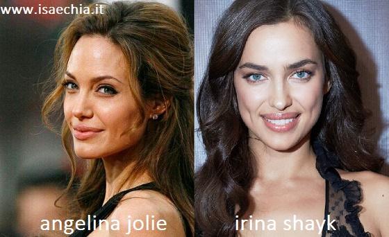 Somiglianza tra Angelina Jolie e Irina Shayk