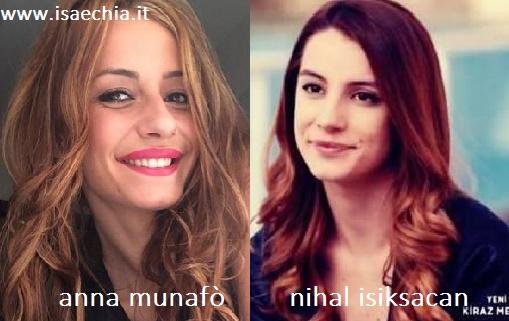 Somiglianza tra Anna Munafò e Nihal Isiksacan