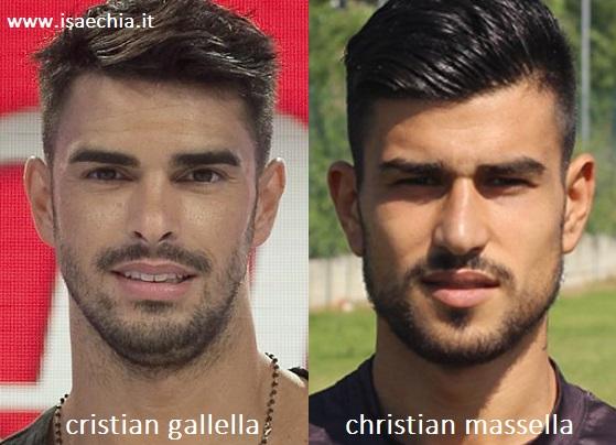 Somiglianza tra Cristian Gallella e Christian Massella