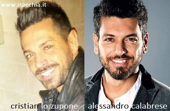 Somiglianza tra Cristian Lo Zupone e Alessandro Calabrese