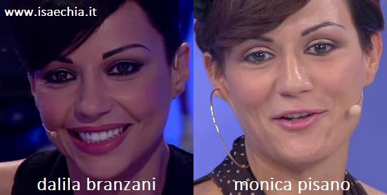 Somiglianza tra Dalila Branzani e Monica Pisano
