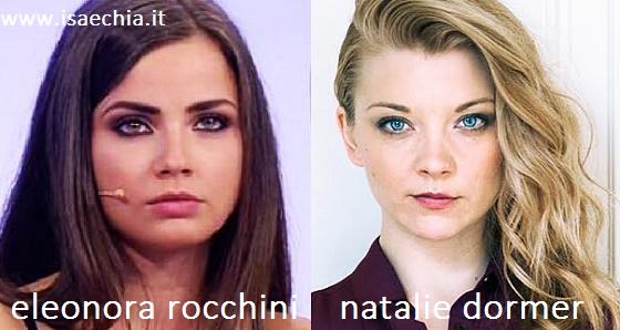 Somiglianza tra Eleonora Rocchini e Natalie Dormer