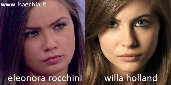 Somiglianza tra Eleonora Rocchini e Willa Holland
