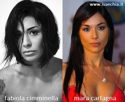 Somiglianza tra Fabiola Cimminella e Mara Carfagna
