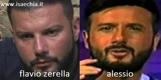 Somiglianza tra Flavio Zerella e Alessio