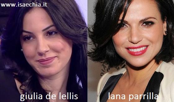 Somiglianza tra Giulia De Lellis e Lana Parrilla
