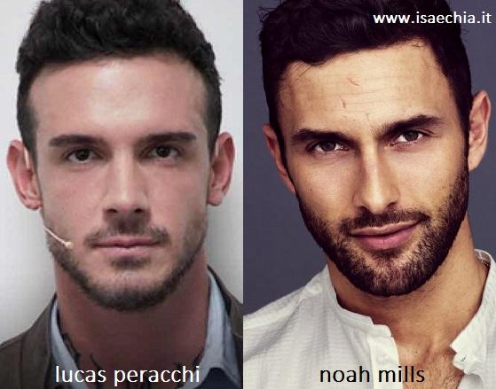 Somiglianza tra Lucas Peracchi e Noah Mills