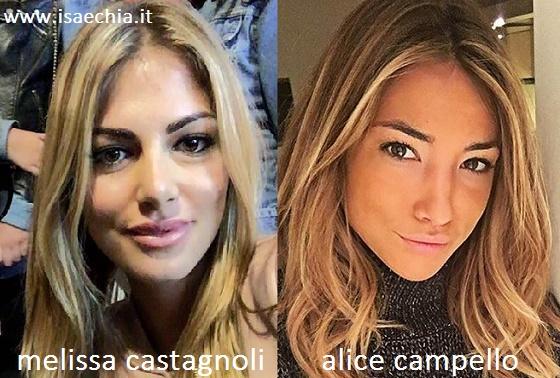 Somiglianza tra Melissa Castagnoli e Alice Campello