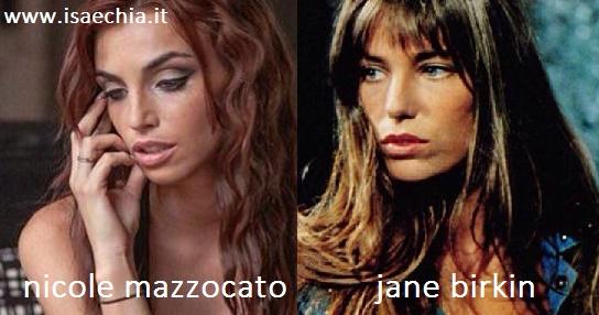 Somiglianza tra Nicole Mazzocato e Jane Birkin