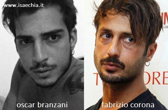 Somiglianza tra Oscar Branzani e Fabrizio Corona