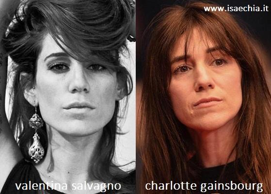 Somiglianza tra Valentina Salvagno e Charlotte Gainsbourg