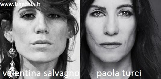 Somiglianza tra Valentina Salvagno e Paola Turci