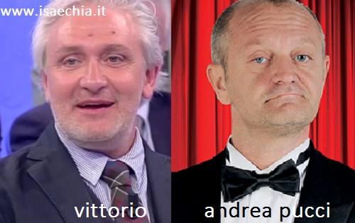 Somiglianza tra Vittorio e Andrea Pucci