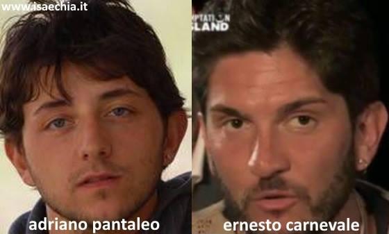 Somiglianza tra Ernesto Carnevale e Adriano Pantaleo