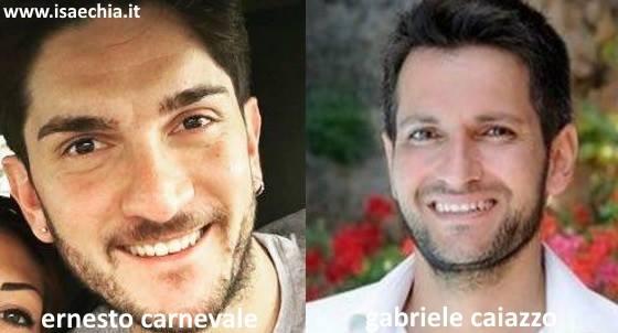 Somiglianza tra Ernesto Carnevale e Gabriele Caiazzo