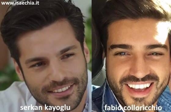 Somiglianza tra Fabio Colloricchio e Serkan Çayoğlu