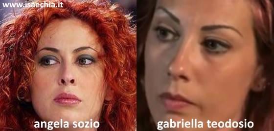 Somiglianza tra Gabriella Teodosio e Angela Sozio