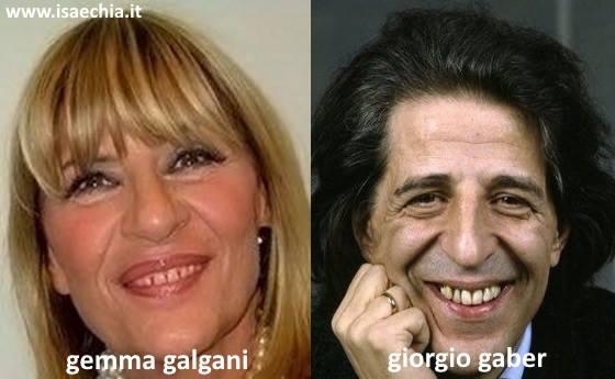 Somiglianza tra Gemma Galgani e Giorgio Gaber