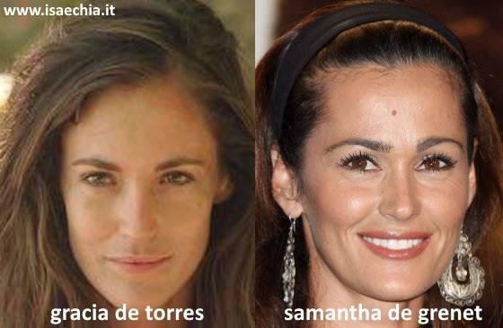 Somiglianza tra Gracia De Torres e Samantha De Grenet