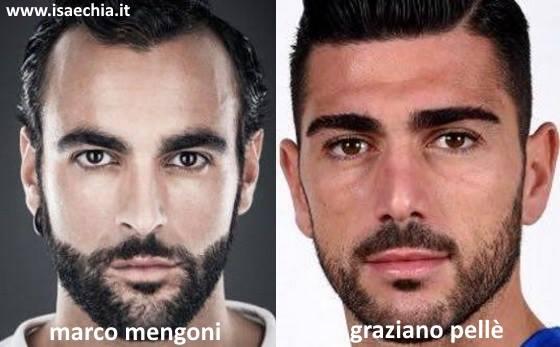Somiglianza tra Graziano Pellè e Marco Mengoni