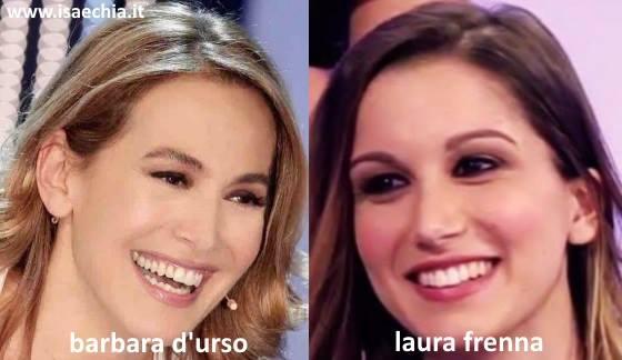 Somiglianza tra Laura Frenna e Barbara D'Urso