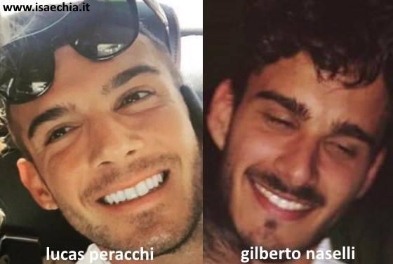 Somiglianza tra Lucas Peracchi e Gilberto Naselli