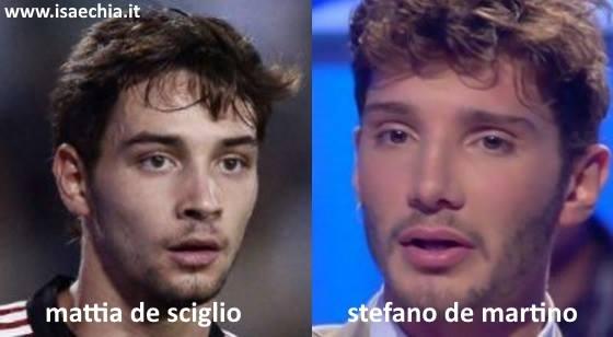 Somiglianza tra Mattia De Sciglio e Stefano De Martino