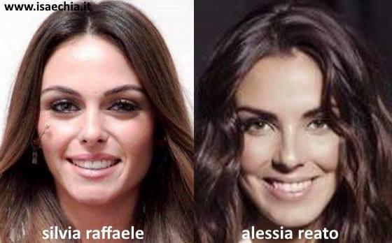 Somiglianza tra Silvia Raffaele e Alessia Reato
