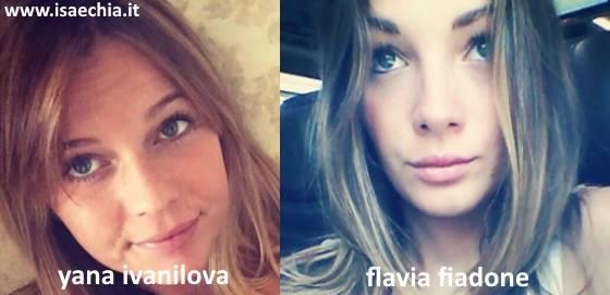 Somiglianza tra Yana Ivanilova e Flavia Fiadone