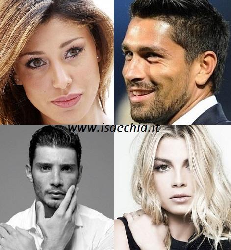 Belen Rodriguez, Marco Borriello, Stefano De Martino e Emma Marrone