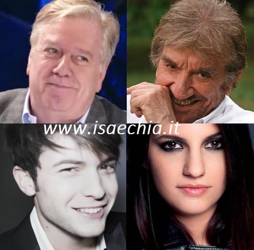 Claudio Lippi, Gigi Proietti, Deborah Iurati e Davide Merlini