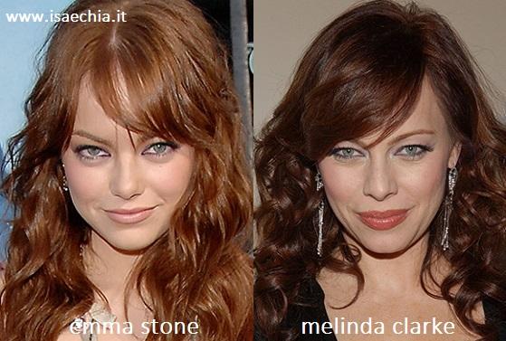 Somiglianza tra Emma Stone e Melinda Clarke