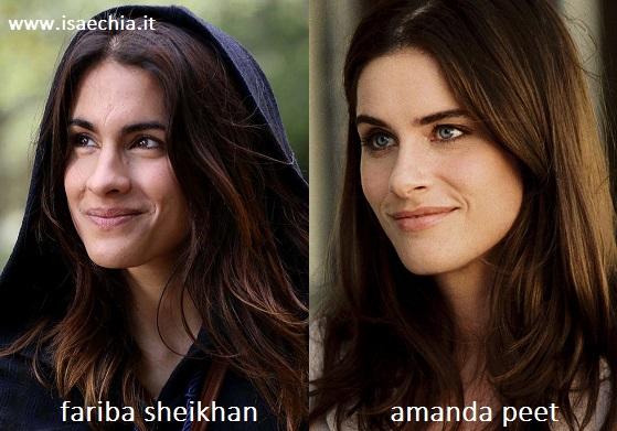 Somiglianza tra Fariba Sheikhan e Amanda Peet