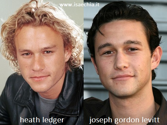Somiglianza tra Heath Ledger e Joseph Gordon Levitt