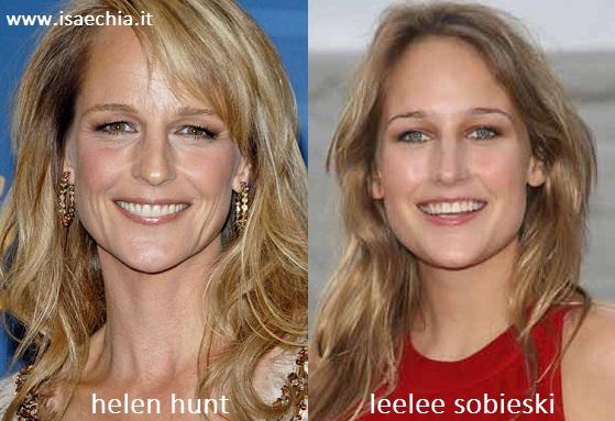 Somiglianza tra Helen Hunt e Leelee Sobieski