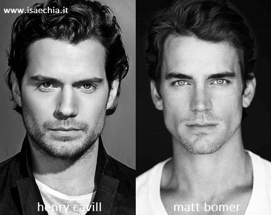 Somiglianza tra Henry Cavill e Matt Bomer