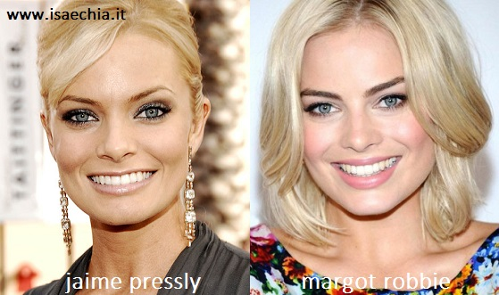 Somiglianza tra Jaime Pressly e Margot Robbie