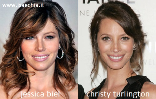 Somiglianza tra Jessica Biel e Christy Turlington
