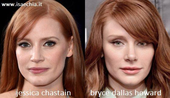 Somiglianza tra Jessica Chastain e Bryce Dallas Howard