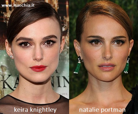 Somiglianza tra Keira Knightley e Natalie Portman