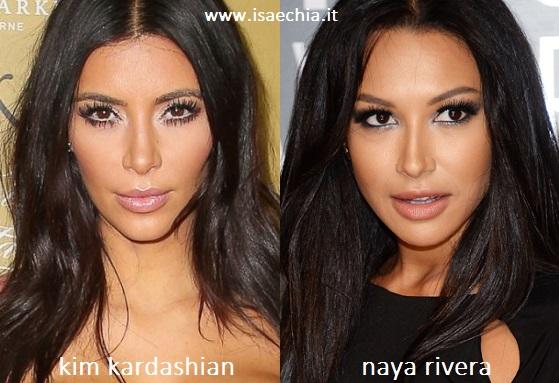 Somiglianza tra Kim Kardashian e Naya Rivera