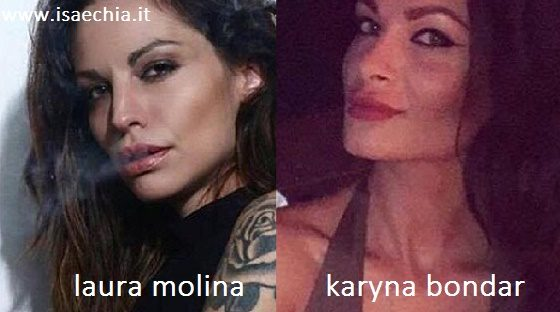 Somiglianza tra Laura Molina e Karyna Bondar